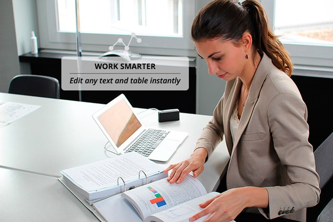 Work Smarter with PocketScan. Edit any text and table instantly. Dacuda AG Switzerland - Scanning redefined.
